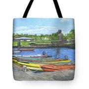 Hanga Roa Harbour Tote Bag