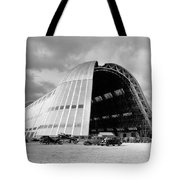 Hangar One At Moffett Field Tote Bag by Underwood Archives