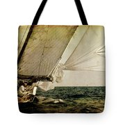 Hanged On Wind In A Mediterranean Vintage Tall Ship Race  Tote Bag