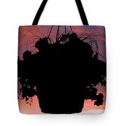 Hanging Basket Silhouette Tote Bag