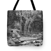 Hanging Bridge In Black And White Tote Bag