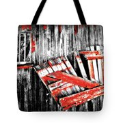 Hanging By A Few Nails Bw Tote Bag