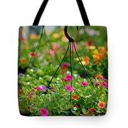 Hanging Flower Baskets Shallow Dof Tote Bag
