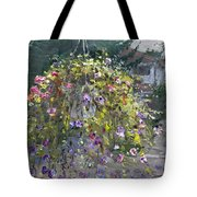 Hanging Flowers From Balcony Tote Bag