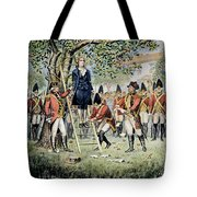Hanging Of Nathan Hale Tote Bag
