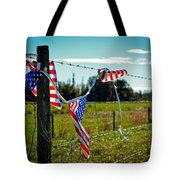 Hanging On - The American Spirit By William Patrick And Sharon Cummings Tote Bag