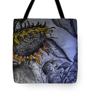 Hanging On To Life - Sunflower Tote Bag