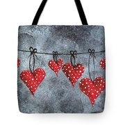 Hanging On To Love Tote Bag
