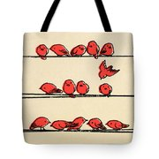 Hanging Out Tote Bag by Eric Fan