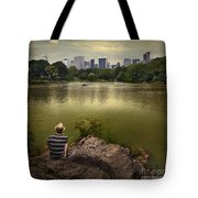 Hanging Out In Central Park Tote Bag