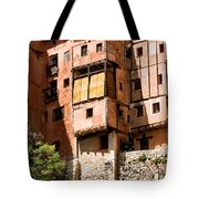 Hanging Red Houses Tote Bag