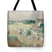 Hanging The Laundry Out To Dry Tote Bag by Berthe Morisot