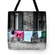 Hanging The Wash In Venice Italy Tote Bag