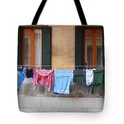 Hanging The Wash In Venice Tote Bag