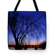 Hanging Tree Sunrise Tote Bag