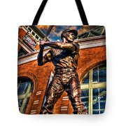 Hank Aaron In Hdr Tote Bag