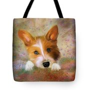 Hankie A Corgi And Westi Mix Cute Dog Tote Bag