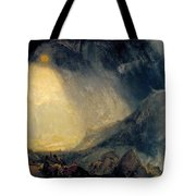 Hannibal And His Army Crossing The Alps Tote Bag
