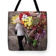 Hanoi Flowers 01 Tote Bag