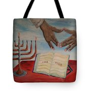 Hanukkah First Night Tote Bag