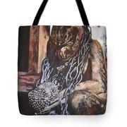 Hanuman In Chains Tote Bag