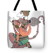 Hanuman Tote Bag by Kruti Shah