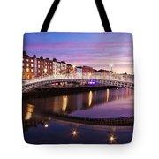 Hapenny Bridge At Dawn - Dublin Tote Bag by Barry O Carroll