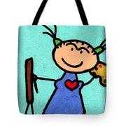 Happi Arte 4 - Frida Kahlo Artist Tote Bag by Sharon Cummings