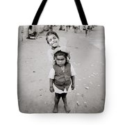 Happiness In India Tote Bag