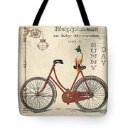 Happiness Is My Bicycle Tote Bag