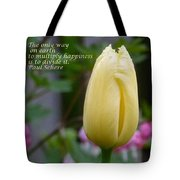 Happiness Tulip Tote Bag