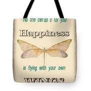 Happinesstypography Tote Bag