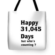 Happy 85th Birthday Tote Bag