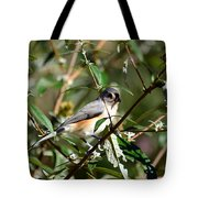 Happy As A Titmouse Tote Bag