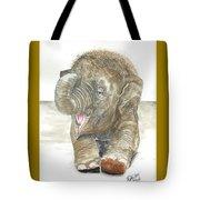 Happy Baby Elephant Tote Bag