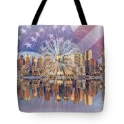 Happy Birthday America Tote Bag by Susan Candelario