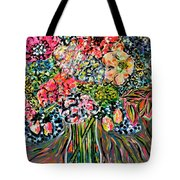 Happy Birthday Flowers Tote Bag