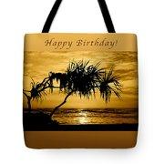 Happy Birthday Golden Sunrise Tote Bag