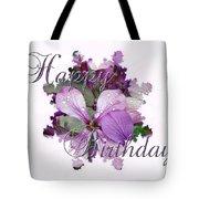 Happy Birthday Greeting Card - Purple Luneria Tote Bag