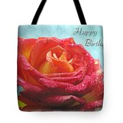Happy Birthday Rose Tote Bag