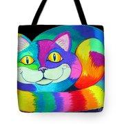 Happy Cat Dark Back Ground Tote Bag