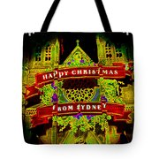 Happy Christmas From Sydney Tote Bag
