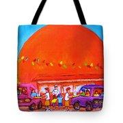 Happy Days At The Big  Orange Tote Bag