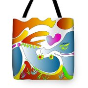 Happy Face Of Spring Tote Bag