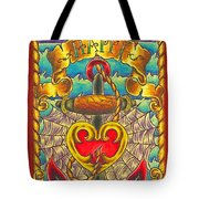 Happy Father's Day Anchor And Ship Tote Bag