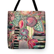 Happy Go Lucky Flowers Tote Bag