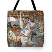 Happy Grey Pony Tote Bag