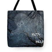 Happy Halloween - Ghost In Trees Tote Bag