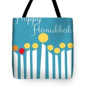 Happy Hanukkah Menorah Card Tote Bag