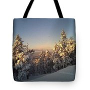 Happy Holidays In Deep Snow  Tote Bag